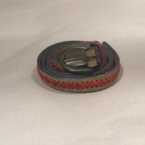 Faux leather belt